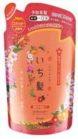 """KRACIE """"Ichikami"""" Бальзам-ополаскиватель интенсивно увлажняющий для поврежденных волос с маслом абрикоса 340 гр, сменная упаковка."""