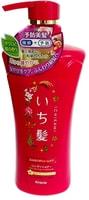 """KRACIE 72164kr """"Ichikami"""" Бальзам-ополаскиватель для придания объема поврежденным волосам с ароматом граната, 480 гр."""