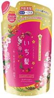 """Kracie """"Ichikami"""" Бальзам-ополаскиватель для придания объема поврежденным волосам с ароматом граната, сменная упаковка, 340 мл."""