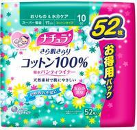 """Daio paper Japan """"Elle AIR Mini+"""" Супер-впитывающие ежедневные тонкие гигиенические прокладки анатомической формы с поверхностью из хлопка (Мини+) 17 см, 52 шт."""
