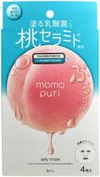 """BCL """"Momo Puri"""" Маска тканевая с лактобактериями, витаминами А, C, E и керамидами """"Увлажнение и Упругость"""", 4 шт."""