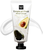 "FarmStay ""Tropical Fruit Hand Cream Avocado & Shea Butter"" Крем для рук ""Тропические фрукты"" с авокадо и маслом ши, 50 мл."