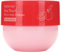 """FarmStay """"Real Peach All-in-one Cream"""" Многофункциональный крем с экстрактом персика, 300 мл."""