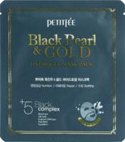 "Petitfee ""Black Pearl & Gold Hydrogel Mask Pack"" Гидрогелевая маска для лица с черным жемчугом и золотом, 32 гр."