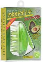 """Ikemoto """"Avocado Oil Shampoo Brush"""" Массажная щётка для мытья волос, с маслом авокадо."""