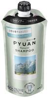 """KAO """"Merit Pyuan - Natural"""" Шампунь для волос с ароматом мяты и ландыша, сменная упаковка, 340 мл."""