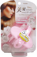 """VESS """"Bihatsu Shampoo Brush"""" Силиконовая щетка-массажер для мытья головы, розовая."""