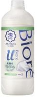 "KAO ""Biore U Foaming Body Wash Healing Botanical"" Пена для душа ""Целебные травы"", сменная упаковка, 450 мл."