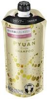 """KAO """"Merit Pyuan - Circle"""" Шампунь для волос с ароматом персика и сливы, сменная упаковка, 340 мл."""