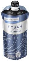 """KAO """"Merit Pyuan - Unique"""" Шампунь для волос с ароматом лилии и мыла, сменная упаковка, 340 мл."""