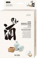 Mitomo «Uruuru» Очищающая тканевая маска для лица с экстрактом саке, 6 шт.