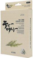 """Mitomo """"Uruuru"""" Противовоспалительная тканевая маска с маслом чайного дерева, 6 шт."""