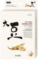 """Mitomo """"Uruuru"""" Увлажняющая тканевая маска для лица с протеинами сои, 6 шт."""