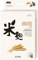 Mitomo «Uruuru» Питательная тканевая маска с экстрактом рисовых отрубей, 6 шт.