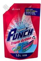 """Mukunghwa """"Speed Punch Triple Action - Ударная сила"""" Глубокоочищающее жидкое средство для стирки быстрого действия, сменная упаковка, 1 л."""
