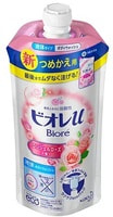 """KAO """"Biore U Smile Time"""" Мягкое пенное мыло для всей семьи, нежный аромат розы, сменная упаковка, 340 мл."""