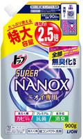 """LION """"Top Super Nanox"""" Гель для стирки, концентрат для контроля за неприятными запахами, сменная упаковка с крышкой, 900 гр."""