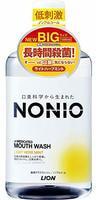 """Lion """"Nonio"""" Ежедневный зубной ополаскиватель с длительной защитой от неприятного запаха, без спирта, легкий аромат трав и мяты, 1000 мл."""