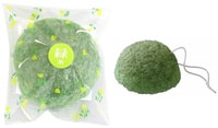 Yamamoto Farm Спонж Конняку для умывания лица, с экстрактом зеленого чая.
