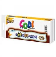 """Ssangyong """"Codi Bathroom Tissue"""" Мягкая туалетная бумага, двухслойная, тиснёная, 45 м * 10 рулонов."""
