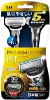 """KAI """"Premium dispo ifit 4"""" Одноразовый мужской бритвенный станок с плавающей 3D головкой и 5 лезвиями, 4 шт."""