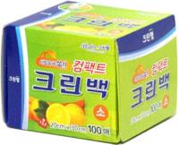 Clean Wrap Пакеты фасовочные в коробке с клапаном для отрывания, размер S, 20*30 см, 100 шт.