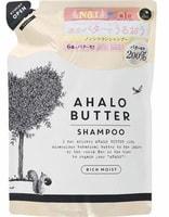 """Cosme Company """"Ahalo Butter Shampoo Rich Moist"""" Увлажняющий пенный шампунь с тропическими маслами и кленовым сиропом, без сульфатов и силикона, сменная упаковка, 400 мл."""