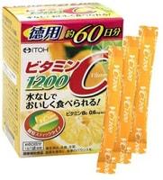 "Itoh Kanpo Pharmaceutical ""Vitamin C"" 1200 Витамин С 1200 мг., 60 пакетиков по 2 гр."