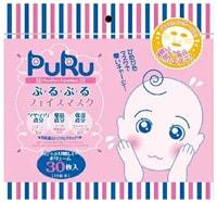 """SPC """"PuRu Face Mask"""" Маски с тройным эффектом - Эластичность, Восстановление и Увлажнение, 30 шт."""