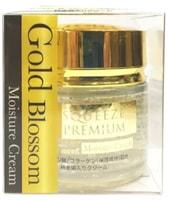 """SQUEEZE """"Gold Blossom"""" Увлажняющий крем для лица с золотом, гиалуроновой кислотой и коллагеном, банка, 50 г."""
