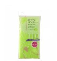 Aisen Массажная мочалка средней жесткости, удлиненная, салатовая, 28Х110 см.