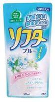 """Kaneyo """"Softa"""" Кондиционер для белья, аромат розовых цветов, сменная упаковка, 500 мл."""