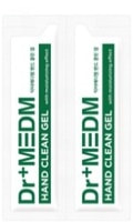 """Dermal """"Dr+Medm"""" Гель очищающий для рук с антибактериальным и увлажняющим эффектом, спиртосодержащий, 2 стика по 3,5 мл."""