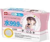LEC Детские влажные салфетки для лица и рук розовая пачка, 3 уп*80 шт.