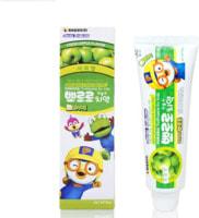 """KM """"Pororo"""" Зубная паста для детей от 3 лет с пониженным содержанием фтора, со вкусом яблока, 90 гр."""