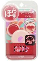 "Sana ""Powder Lip"" Матовая губная помада-тинт, тон 01, красная слива."