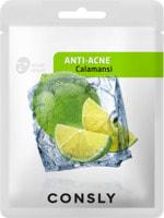 """Consly """"Calamansi Anti-Acne Mask Pack"""" Противовоспалительная тканевая маска с экстрактом каламанси, 20 мл."""