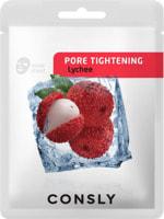 "Consly ""Lychee Pore-Tightening Mask Pack"" Сужающая поры тканевая маска с экстрактом личи, 20 мл."
