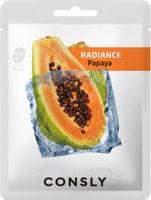 """Consly """"Papaya Radiance Mask Pack"""" Выравнивающая тон кожи тканевая маска с экстрактом папайи, 20 мл."""