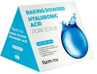 "FarmStay ""Baking Powder Hyaluronic Acid Pore Scrub"" Скраб в пирамидках для очищения пор с содой и гиалуроновой кислотой, 7 гр*25 шт."