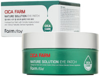 """FarmStay """"Cica Farm Nature Solution Eye Patch"""" Гидрогелевые восстанавливающие патчи для области вокруг глаз с центеллой азиатской, 60 шт."""