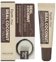 "FarmStay ""Real Coconut Essential Lip Balm"" Бальзам для губ с экстрактом кокоса, 10 мл."