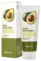 "FarmStay ""Real Avocado Deep Clear Peeling Gel"" Отшелушивающий гель с экстрактом авокадо, 100 мл."