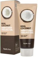 "FarmStay ""Real Coconut Deep Clear Peeling Gel"" Отшелушивающий гель с экстрактом кокоса, 100 мл."