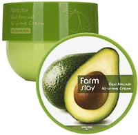 "FarmStay ""Real Avocado All-In-One Cream"" Антивозрастной крем с экстрактом авокадо, 300 мл."