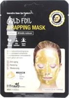 """MBeauty """"Gold Foil Wrapping Mask"""" Антивозрастная золотая фольгированная маска для лица с коллагеном, 25 мл."""