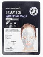 """MBeauty """"Silver Foil Wrapping Mask"""" Восстанавливающая серебряная фольгированная маска для лица с витамином С, 25 мл."""