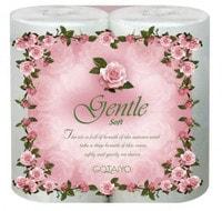 """Gotaiyo """"Gentle soft"""" Двухслойные бумажные полотенца в рулоне с ароматом """"Европы"""", с тиснением, 2 рулона."""