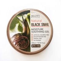 "Jigott ""Natural Black Snail Moisture Soothing Gel"" Универсальный увлажняющий гель ""чёрная улитка"", 300 мл."