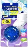 Okazaki Очищающая и дезодорирующая пенящаяся таблетка для бачка унитаза, окрашивающая воду в голубой цвет, с ароматом лаванды, 100 гр.
